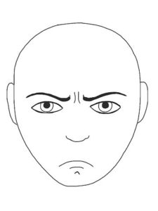 angry face artwork depicting envy and sins to avoid